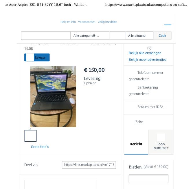 Inkoopfacturen ontbreken vaak bij koop van een particulier - print de advertentie.